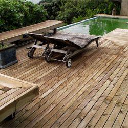 Ξύλινο πάτωμα deck εξωτερικού χώρου Πεύκο