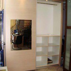 Συρόμενη ντουλάπα εσωτερική με υλικό πάχους 16mm