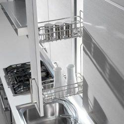 08 Βαγονέτο συρμάτινο κουζίνας διώροφο