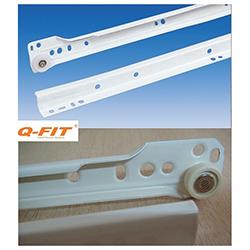 Οδηγός συρταριού απλός με ροδάκι Q-Fit